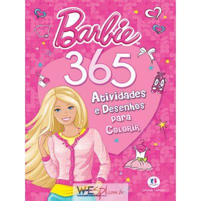 Wespi Atacado Livro Atividades Barbie 365 Atividades Un