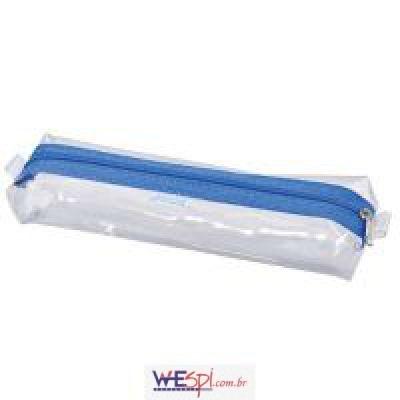 f84a76206 ESTOJO PVC TRANSPARENTE CRISTAL C/1 ZIPER - PT Pacote com 06 Unidades -  GOODIE