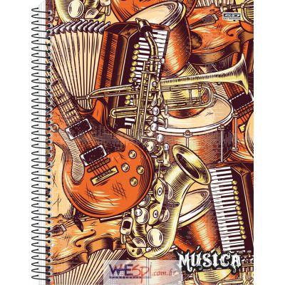 Wespi Atacado : CADERNO MUSICA UNIVERSITARIO 96F ESPIRAL CD